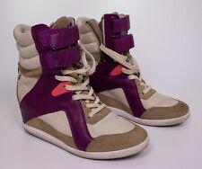Reebok Alicia Keys Wedge High Heel Trainers in Purple V51924 Size 7.5