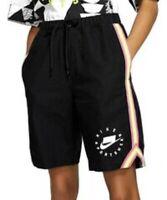 Nike Sportswear NSW Women's Size M Medium Canvas Athletic Shorts AR3010-010