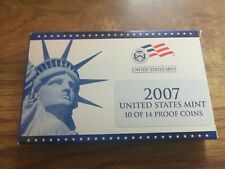 2007 US USA Proof coin Set inc State Quarters