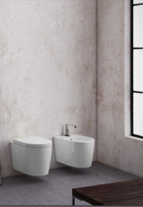 Skip Wall Hung Rimless Pan White 50x37 with Soft Close Seat