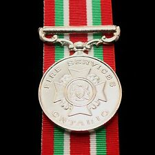 Ontario Fire Service Long Service Medal, Full Size Reproduction