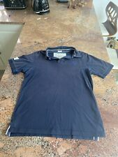 Mens Large Abercrombie And Fitch Navy Blue Polo Top Short Sleeved Shirt