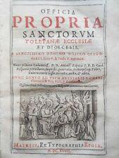 Officia Propria Sanctorum (1643) Madrid Print, Christianity, Ecclesiastical RARE