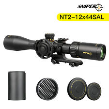 Sniper Nt 2-12X44Sal Sfp Rifle Scope Red/Green Illuminated Rangefinder Reticle