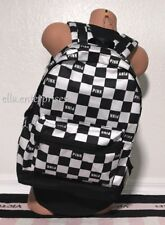 Victoria's Secret Pink Campus Backpack Black White Checkered Bookbag