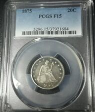 1875-P Twenty Cent Piece 20C PCGS F15 tough type coin