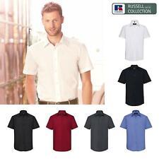 Russell Collection Mens Short Sleeve Tailored Shirt R-925M-0 - Office Wear Shirt