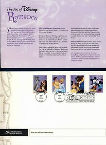 USA. 2006 Art of Disney, Romance (4025-28) . First Day Cover & Ceremony Program