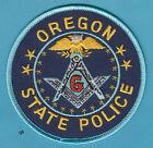 OREGON STATE POLICE  MASON MASONIC SHOULDER PATCH