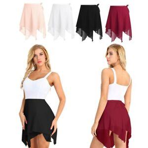Adult Womens Ladies Ballet Wrap Scarf Skirt Dance Wear Chiffon Dress Ballroom
