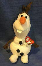 "Ty Beanie Baby Disney Frozen Olaf Snowman 8"" 20cm Soft Toy With Sound"