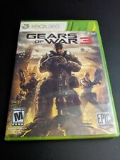 Gears of War 3 GOW Original Release Xbox 360 EX+NM COMPLETE w stickers-!