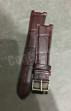 Frederique Constant 23mm Brown Croco Print Leather Strap Genuine