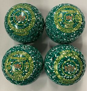 Drakes Pride Conquest Bowls Size 3H/W Green Speckled with Grip
