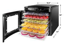 6 Tray Food Jerky Dehydrator Machine  Preserver Fruits & Vegetable Dryer Chefman