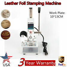 Digital Display Hot Foil Stamping Machine 10*13CM Leather Paper PU Embossing USA