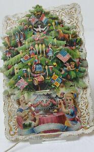 alte Oblate mechanischer Weihnachtsbaum um 1880