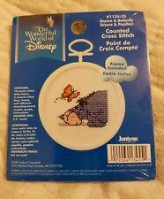 """Brand New Disney Eeyore & Butterfly Cross Stitch Kit by Janlynn 2005   2.5"""""""