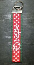 Alpha Chi Omega Greek Sorority Fabric Key Chain/Fob Embroidered New - Free Ship
