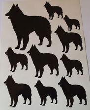 Belgian Shepherd dog vinyl stickers/ car decals/ window decals