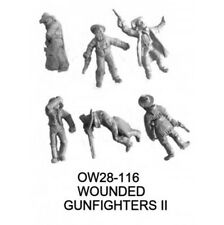 OW28-116 WOUNDED GUNFIGHTER II - KNUCKLEDUSTER MINIATURES - WILD WEST - 28MM