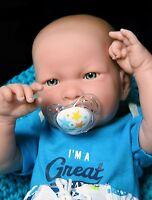 "New Baby Boy Doll 17"" InchES Berenguer Newborn Reborn Soft Vinyl Real SUPER DEAL"