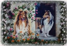 ROUGH COLLIE DOG MINI IPAD COVER NEOPRENE OIL PAINTING PRINT SANDRA COEN ARTIST