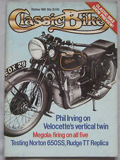 Classic Bike magazine 10/1981 featuring Norton SS, Rudge TT Replica
