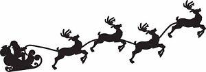 Window Wall Vehicle Display Christmas Santa & Sleigh Decal Vinyl Sticker 2 pack