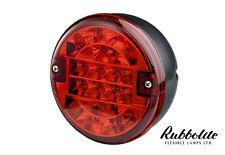 1 x 12V24V VOLT LED REAR ROUND HAMBURGER FOG LAMP LIGHT LORRY/TRUCK/TRAILER