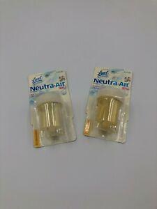 2 Lysol neutra air air treatment refill fresh 0.51 oz Discontinued Rare Bs49
