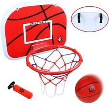 jerryvon Basketball Hoop Over The Door Wall Basketball Goal Indoor Rim Combo
