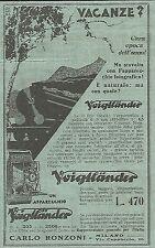 W4344 Apparecchi fotografici Voigtlander - Pubblicità del 1930 - Vintage advert
