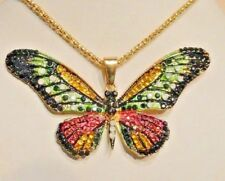 Betsey Johnson Jewelry Fashion Multi Color CRYSTAL BUTTERFLY Pendant, Necklace