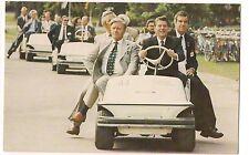 President RONALD REAGAN POSTCARD Ottawa Canada Helmut Schmidt Golf Cart