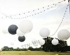 6x 20cm white black paper lanterns wedding party baby shower events decoration