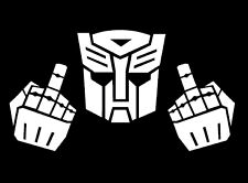 Car Decal Sticker Transformer Autobot with fingers