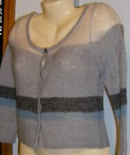 Chelsea & Violet Cropped Cardigan Sweater Gray New S