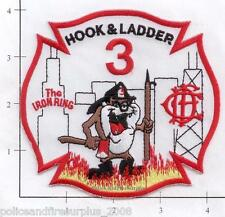 Illinois - Chicago Truck 3 IL Fire Dept Patch The Iron Ring  Taz