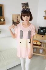 Brand New Korean Style Cartoon Bunny Super Soft Legging Pink Loose Shirt  XS