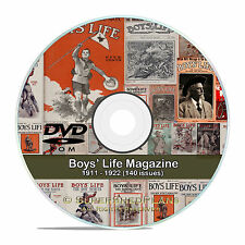 Boys Life (Boy Scouts) Magazine 140 Classic Back Issues, 1911-1922, CD DVD V63