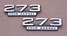 1965 1966 1967 Plymouth Dodge New MoPar 273 Four Barrel Emblem Cuda Dart GT HiPo