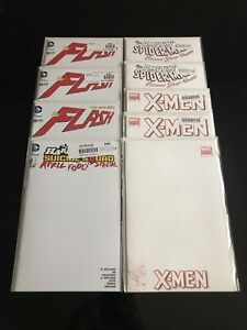BLANK COMIC SKETCH COVERS: $7 EACH! (MARVEL & DC) THE FLASH/HARLEY QUINN/X-MEN
