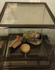 New listing Zoo Med Large Naturalistic Terrarium Reptile +Small Rock Hide+ Cork + Water Dish