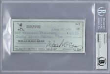WILLIE MCCOVEY SIGNED CHECK SAN FRANCISCO GIANTS LEGEND ENCAPSULATED BECKETT BAS