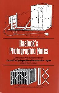 Hasluck's Photographic Notes - How to make Cameras, slides, shutters, tripods.