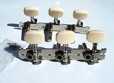 Classical Guitar Machine Heads 3+3 alliage de nickel Crème Losange Boutons UK