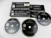 Mint Disc Playstation 1 Ps1 FAMILY GAMES COMPENDIUM AUS PAL Free Postage