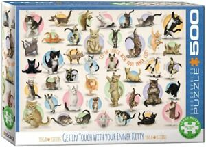 Yoga Kittens 500 Large Piece Jigsaw Puzzle 680mm x 480mm (pz)