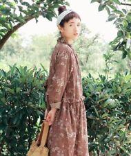 Robe tunique lin dentelle Mori ancienne vintage les shabby chic ours boheme